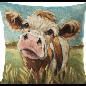 Other - Pillow Cover- New- CUTE -Country Barn Farm Cow
